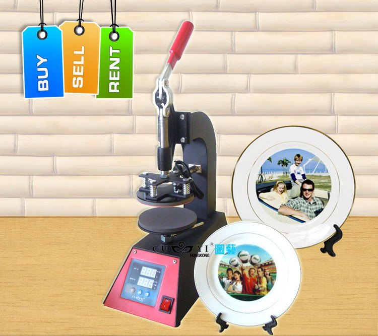 sublimation heat press machine,Dish heat press machine ,heat press machine for tray cheap manual swing away heat press machine for flatbed print 38 38cm