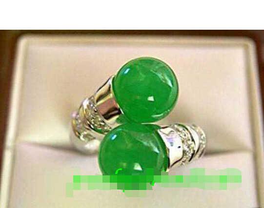 จัดส่งฟรี> >>>เครื่องประดับสีเขียวหยกแหวน(7,8, 9)