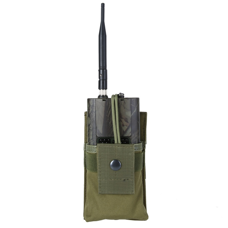 Tactical Radio Case Holder Holster Walkie Talkie Holster Adjustable Molle Pouch Open Top <font><b>Magazine</b></font> <font><b>M4</b></font> Mag Tactical Pouch image
