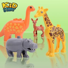 Animal Series Model Figures Big Building Blocks Animals Educational Toys for Kids Children Gift Compatible Duploed Kids Gifts animal series model figures big building blocks educational toys for kids compatible legoingly duploed playmobil kids gifts
