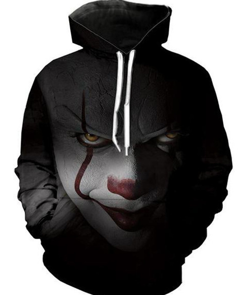 Men's Clothing New Movie It Pennywise Clown Stephen King 1990 2017 Horror Movie Hoodie Sweatshirt Cosplay Sportswear Tracksuit Ideal Gift For All Occasions