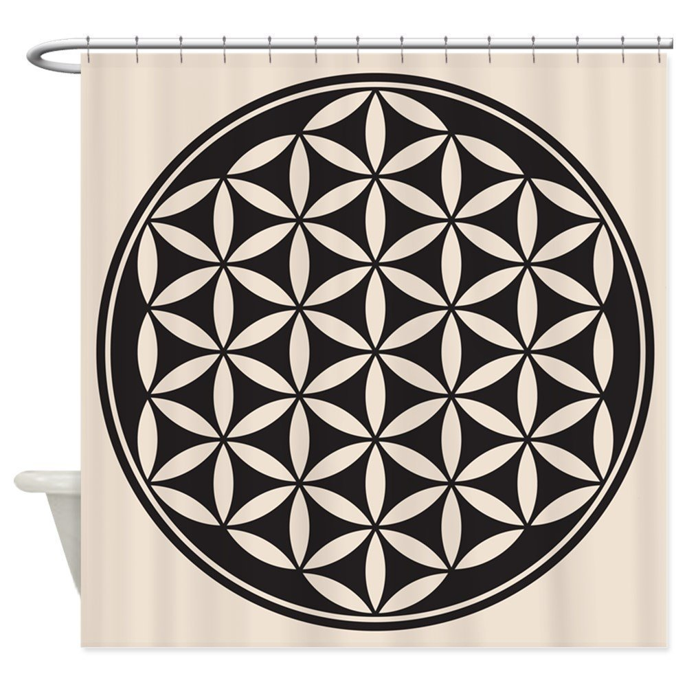 US $16 01 11% OFF|Memory Home Flower of Life Peace Symbol Sacred Geometry  Symbol Waterproof Shower Curtain Polyester Fabric Bath Curtains-in Shower