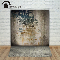 Allenjoy Photographic Background Suspense Dark Cement Wall Backdrops Boy Wedding Fabric Excluding Bracket 8 X 8