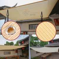 Tewango Brand HDPE Mesh Outdoor Shade Sails Sand Rectangle Patio Garden Cover UV Block Custom Size O-ring 7 Years Life 200GSM