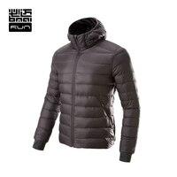 BMAI Running Jacket Men&Women Ultra Light Winter Warm Down Sports Clothing Windproof Long Sleeve Jacket Waterproof Lovers