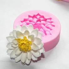 1Pcs 3D Flower Cake Silicone Mold DIY Design Chocolate Mold Silicone Fondant Cake Decorating Tools Pastry And Baking Tools