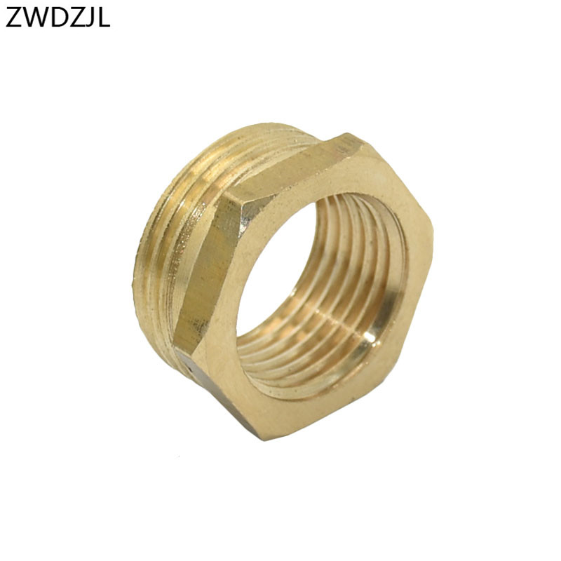 Brass Male 3/4 To The 1/2 Female Garden Tap Adapter 3/4 Reducing 1/2 Threaded Connector Fittings 1pcs