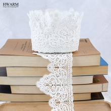 african lace fabric ribbon wedding decoration trim DIY 5 yards High-quality water-soluble milk silk embroidery bar code laces