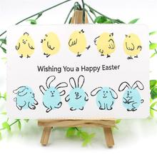 KSCRAFT Happy Easter Transparent Clear Silicone Stamps for DIY Scrapbooking/Card Making/Kids Fun Decoration Supplies
