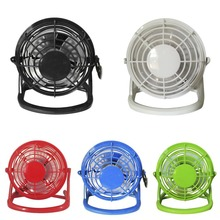 4-Inch Mini Portable USB Fan Handheld Desk Cooling Fan 4 Blades Round Home Office Computer Fan Business Gift
