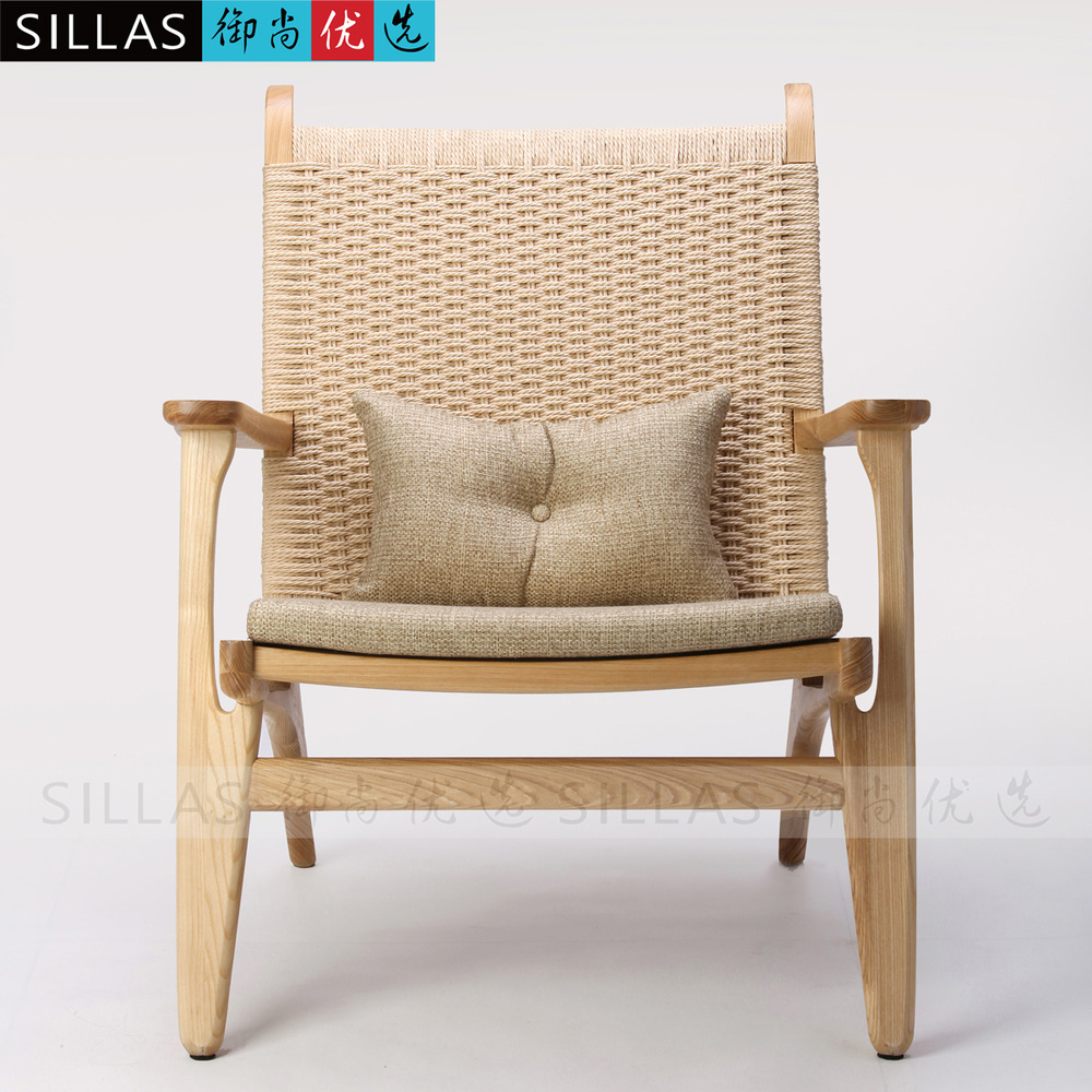 Nordic Single Sofa Chair Wood Logs Braided Rope Lounge Chair Modern  Minimalist Fashion Designer Cafe Furniture In Restaurant Chairs From  Furniture On ...