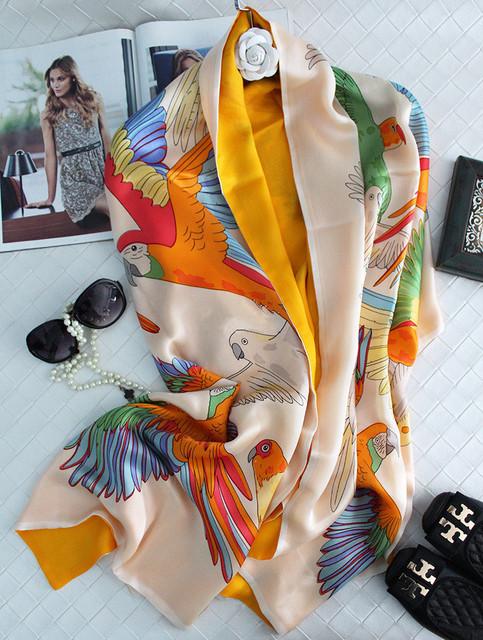 Dos capas de Lana de Satén de Crepe de Seda Twilly Bufanda de Las Mujeres Bufandas Chales Y Bufandas Hijab Bufandas Foulard Echarpe 185x65 cm SF0341