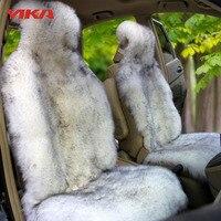 New Arrive 3 Sets Autumn And Winter 100 Natural Fur Australian Sheepskin Car Seat Covers Universal