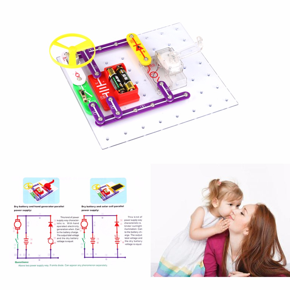 Kids Educational Toys Technic Creative Snap Circuits Electronics Series And Parallel For Discovery Kit Science Children Perfect Gift In Blocks From Hobbies On