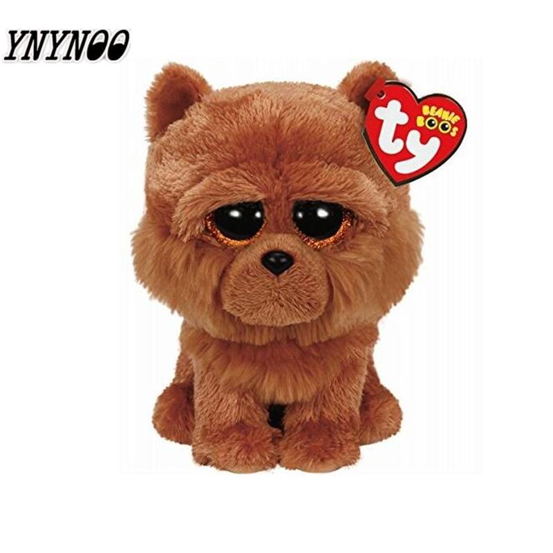 YNYNOO TY Beanie Boo плюшевые ячменя собака 6 дюймов большие глаза Берет Детские плюшевые игрушки куклы Коллекционные мягкие плюшевые игрушки Дети G