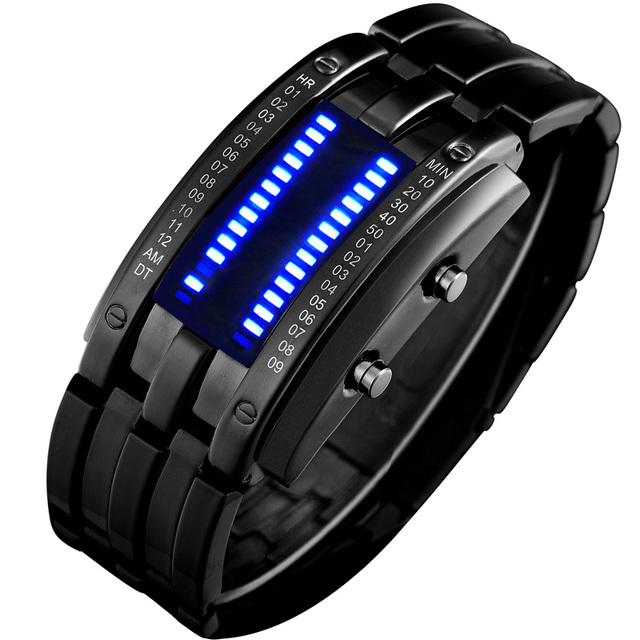 High-end Watches Fashion Creative Led Watch Men And Women Couple Retro 2018 New