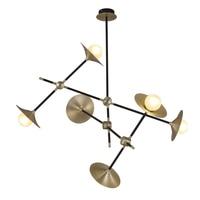 Vintage Chandelier Light G9 Led Bulbs included Warm White Bronze Metal Glass Lamp for Living Room Loft Lighting Free Shipping