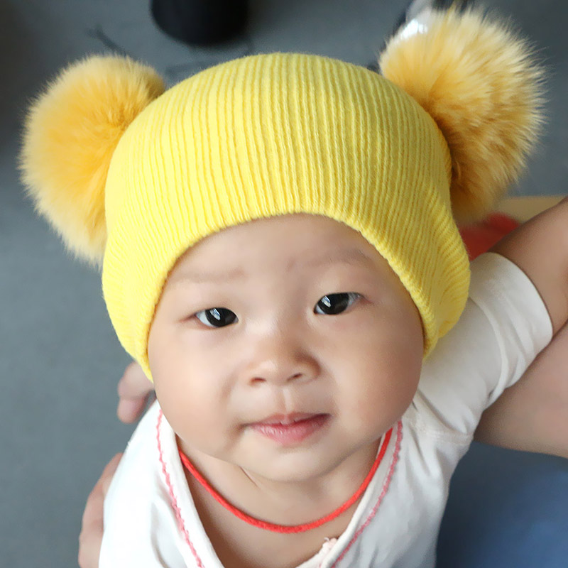 2016 Baru Lucu Bayi Perempuan Laki-laki Beanie Cotton Musim Dingin - Aksesori pakaian - Foto 3