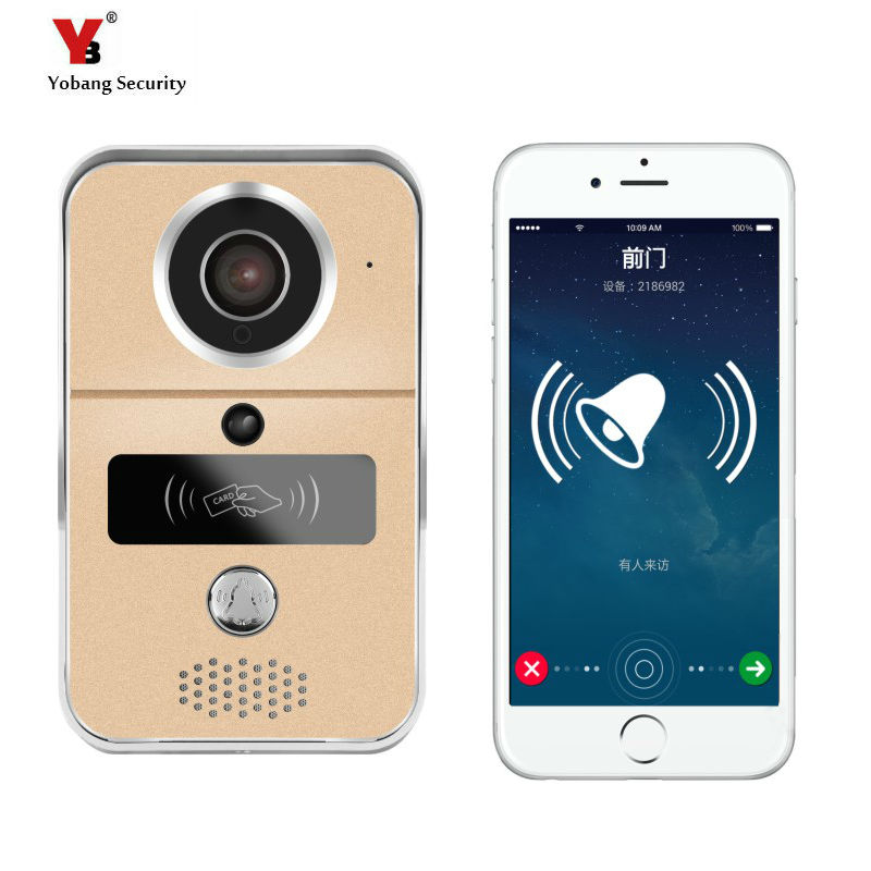 Yobang Security Freeship Wi-Fi Enabled Video Doorbell HD camera door bell  WiFi Video Doorbell Video intercom wi fi адаптер sat integral 1210 hd в киеве
