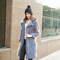 Long Trench Coat for Women Casual Woolen Cashmere Women Trench Coat Winter Warm Full Sleeve Women Overcoat Trench Female