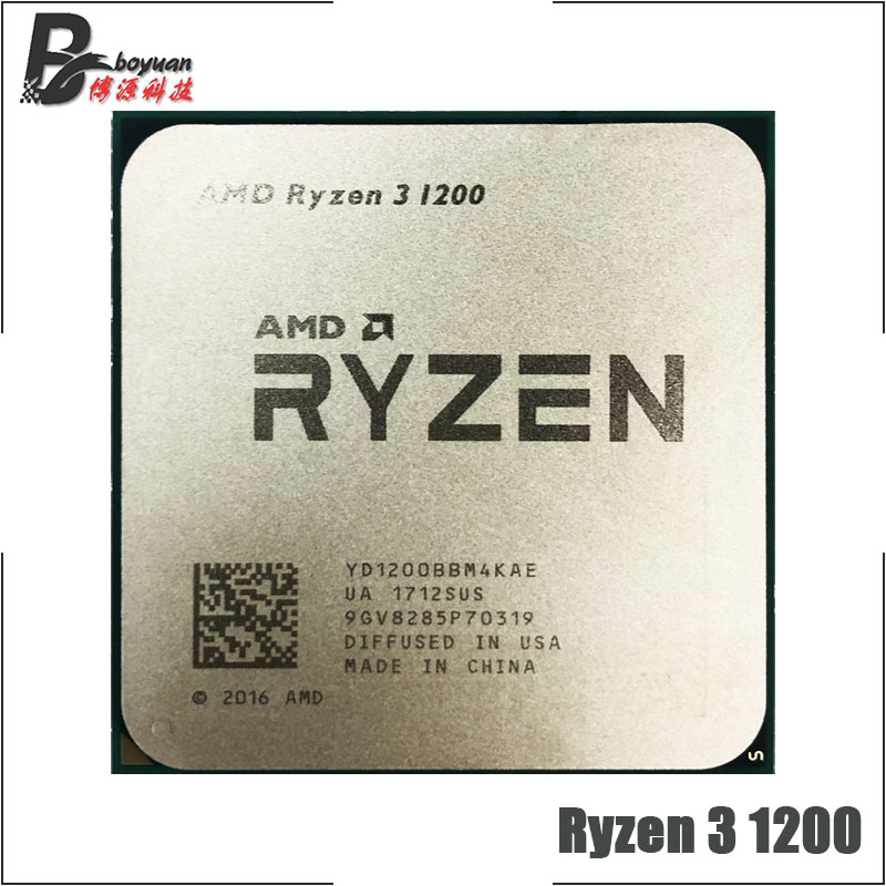 AMD Ryzen 3 1200 R3 1200 3.1 GHz Quad-Core Quad-Thread CPU Processor YD1200BBM4KAE Socket AM4(China)