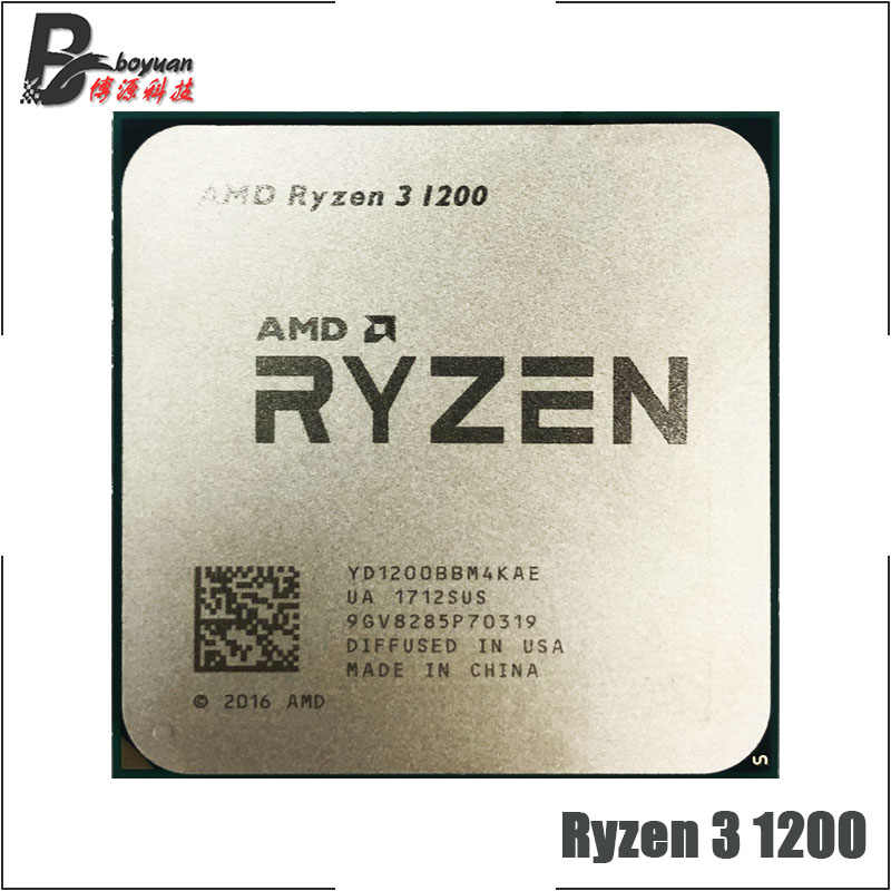 AMD Ryzen 3 1200 R3 1200 3.1 GHz Quad-Core Quad-Thread CPU Processor YD1200BBM4KAE Socket AM4