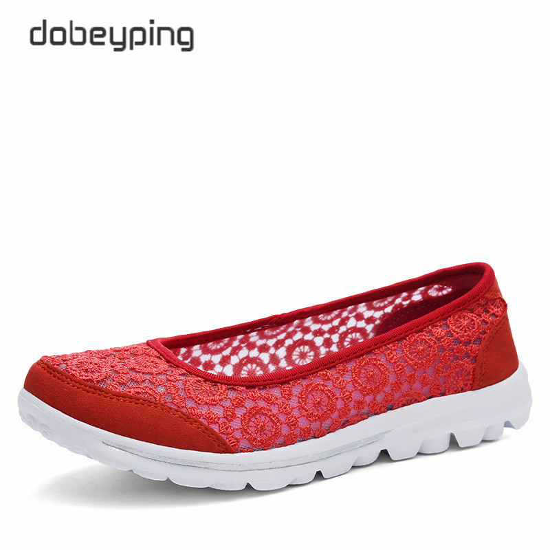 Image 3 - 新しい女性のカジュアルシューズファッションレース女性ローファースリップオン女性の靴超軽量母履物ソフトレディース夏靴women casual shoesfemale shoeswomen loafers -