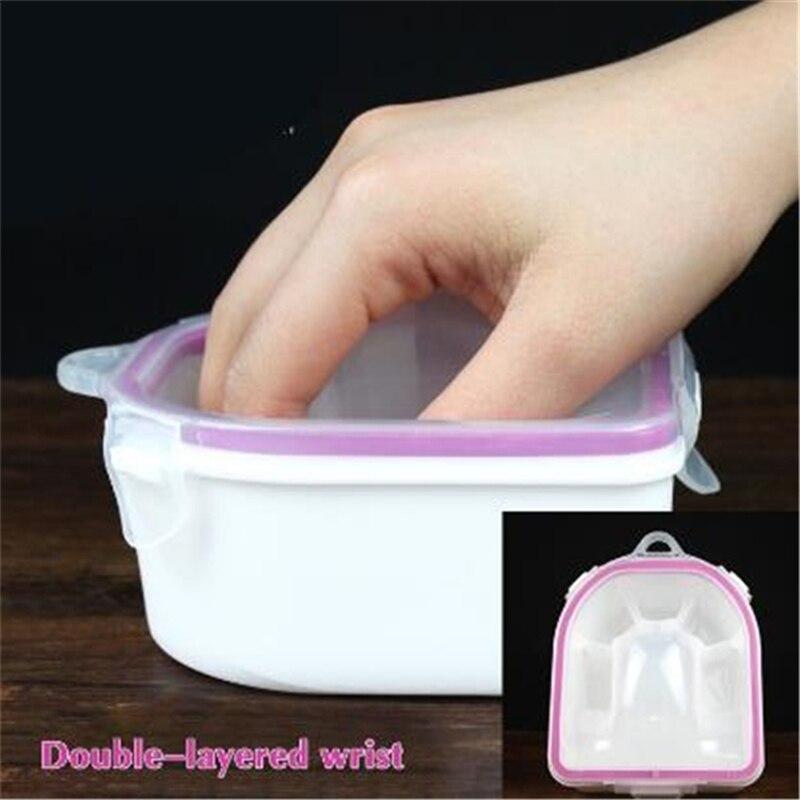 Nail Polish Remover New Plastic Thicken Soaker Bowl Manicure Nail Art Gel Polish Remove Soak Tool Separate Fingers Soak Off Bowl