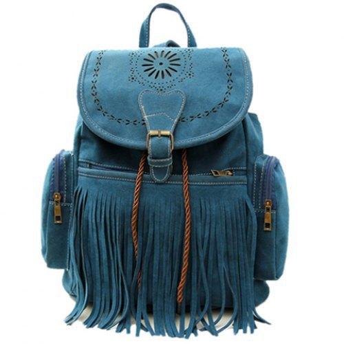Tassel Bag Women Backpack Bag Bolsa Feminina Retro Engraving and Fringe Design Women s Vintage Satchel