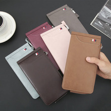 NO.ONEPAUL Vintage Men Leather Brand Luxury Wallet Money Clip Credit Card Dollar Price  Short Slim Male Purses men wallet leather vintage purses high quality money bag credit card holders new dollar bill scrub short wallet wholesale price