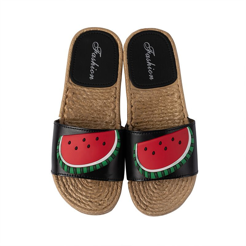 New Men Slippers Fashion Summer Lovely Ladies Casual Slip On Fruit Jelly Beach Flip Flops Slides Woman Skid Indoor Shoes Slippers