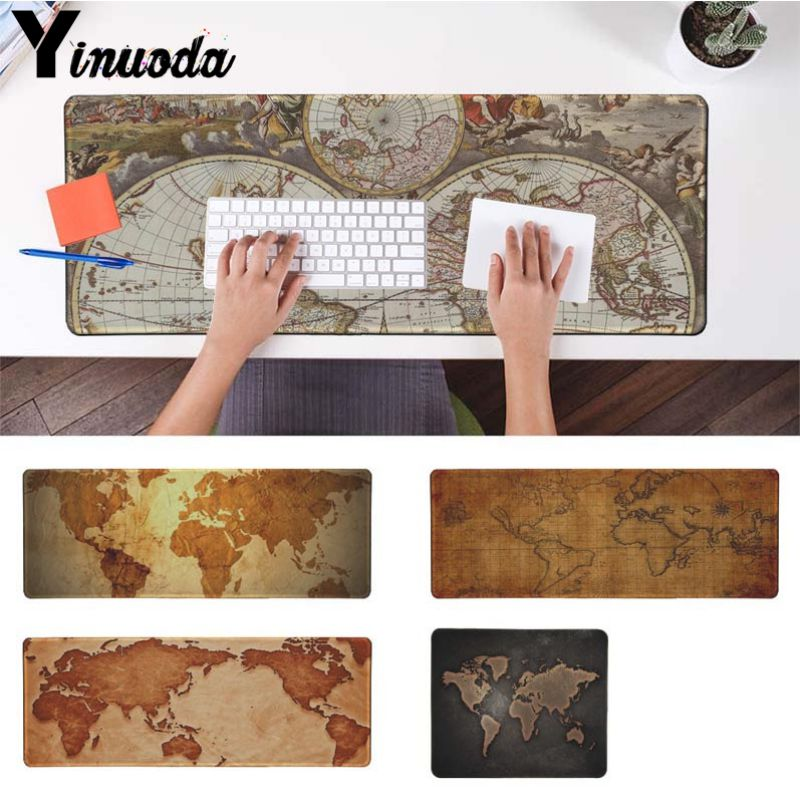 Yinuoda Cool Fashion Old World Map Laptop Gaming Mice Mousepad Size for 180*220 200*250 250*290 300*900 and 400*900*2mm