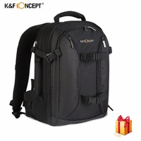 K F CONCEPT Large Capacity Waterproof Multi Functional Digital DSLR Camera Photo Video Bag Nikon Canon
