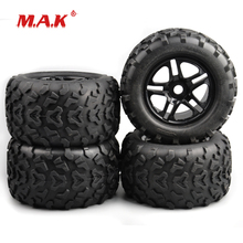 4 Pcs/Set 1:8 Scale Bigfoot Truck Rubber Tire and Wheel Rims with 17mm Hex fit HSP HPI RC Car Model Accessories