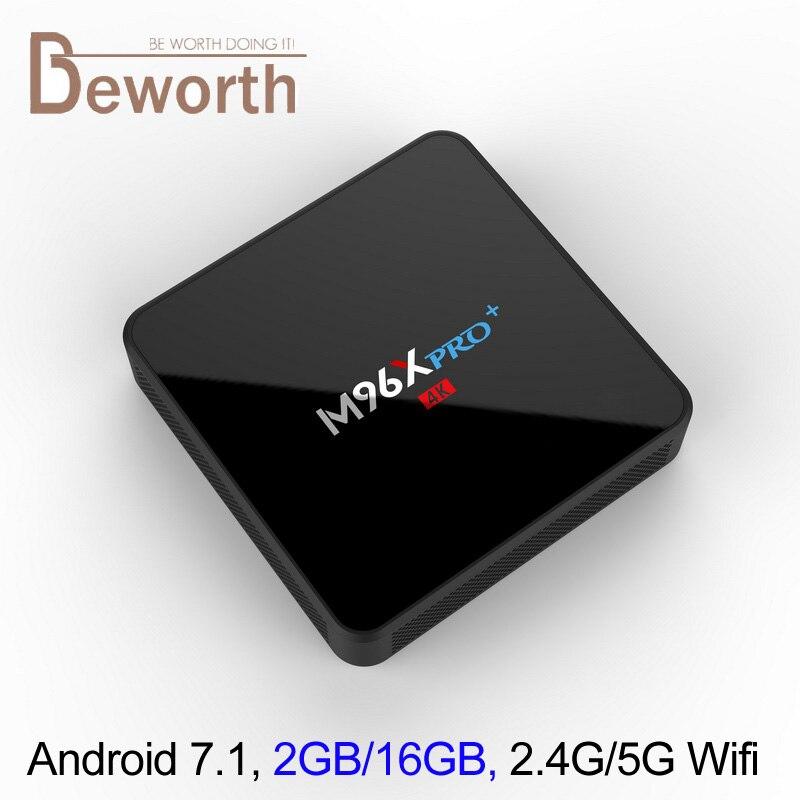DHL Android 7.1 ТВ коробке 2 г 16 г Amlogic s905w 4 ядра Мини-ПК 2.4 г/5 г Двойной Wi-Fi bluetooth 4.0 4 К media player Коди 17.3 ТВ коробка