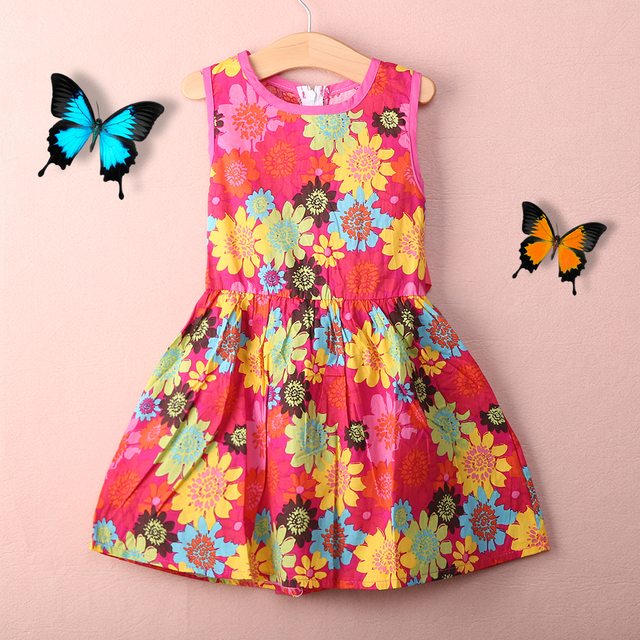 32e727346 Verano 2016 Nuevo vestido Casual de algodón para niñas, ropa sin mangas para  niñas,