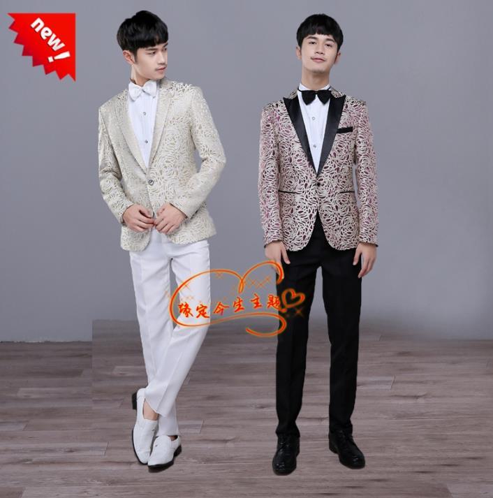 Blazer Men Formal Dress Latest Coat Pant Designs Suit Men Singer