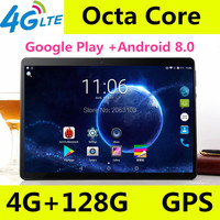 10.1 inch Tablet PC Android 8.0 For Google Play IPS Screen Octa Core SIM 3G 4G LTE WIFI GPS RAM 6GB 64GB Tablet 10 inch