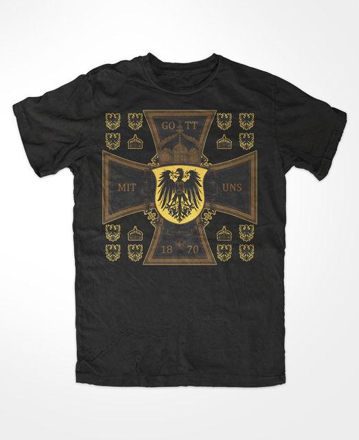 9fe4da8501ec63 Gott mit Uns Herren T Shirt
