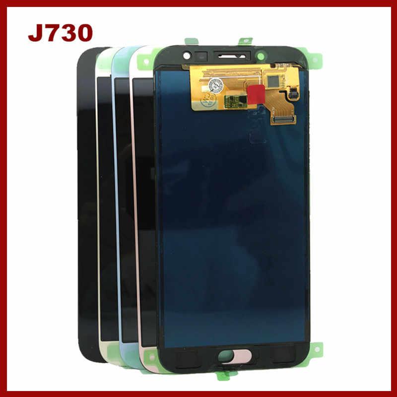 الاستشعار LCD قطع غيار سامسونج غالاكسي J7 برو 2017 J730 J730F LCD اختبار الهاتف عرض مع مجموعة المحولات الرقمية لشاشة تعمل بلمس
