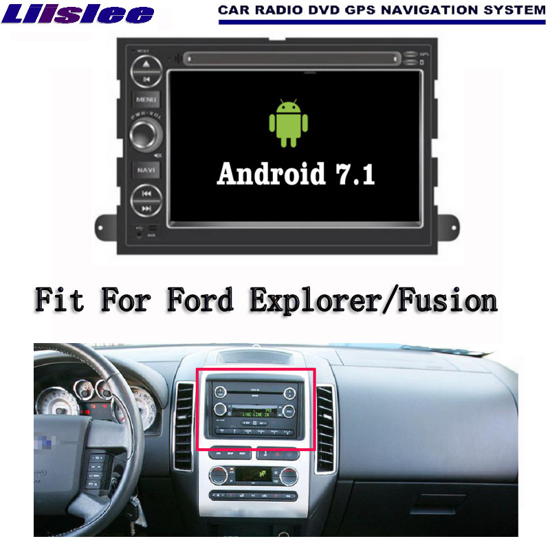 Liislee Android 7.1 2G RAM For Ford Explorer Car Radio Audio Video Multimedia DVD Player WIFI DVR GPS Navi Navigation liislee car multimedia player gps radio navigation for ford fusion for mondeo 2013 2017 original factory style audio navi
