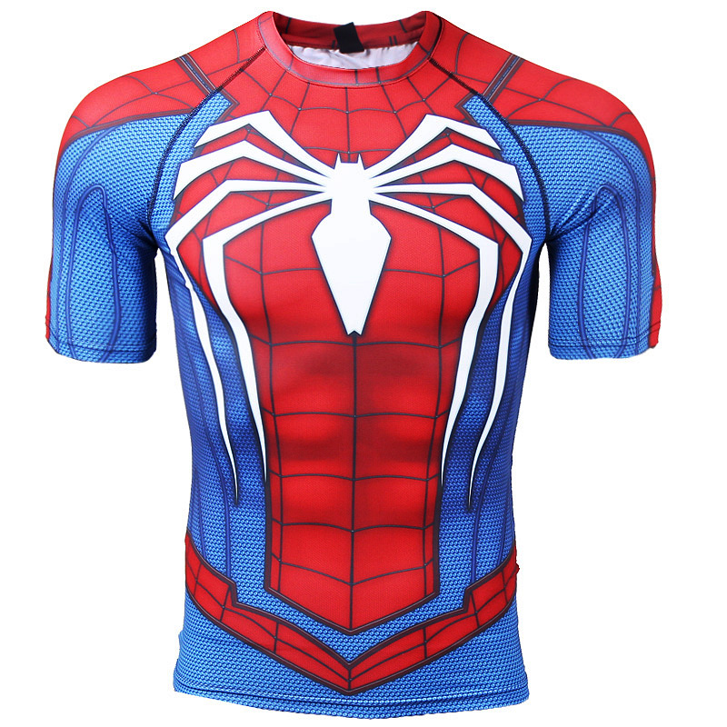 Raglan sleeve compression shirts spiderman 3d printed t for Compressed promotional t shirts
