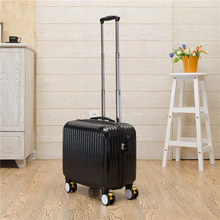 Wholesale!16 inch high quality pc candy color travel luggage on universal wheels with brake,green hardside luggage,FGF-0006-16