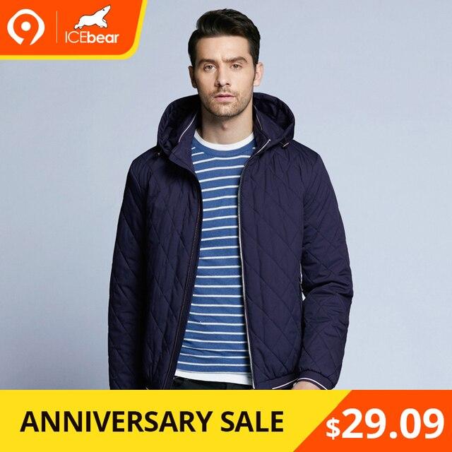 ICEbear 2019 Новинка весенняя мужская куртка-пуховик с уникальными швами простое модное пальто со съёмным капюшоном BMWC18032D