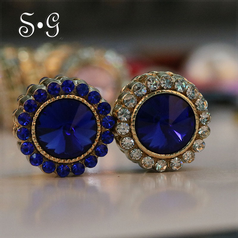 Unique Magnet Brooch Exquisite Rhinestone Magnetic Brooches For Women Muslim Style Scarf Clips Two-sided