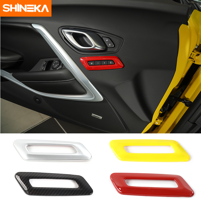 SHINEKA Car font b Interior b font Decoration Kits Memory Seat Controls Switches Cover Bezel Panel