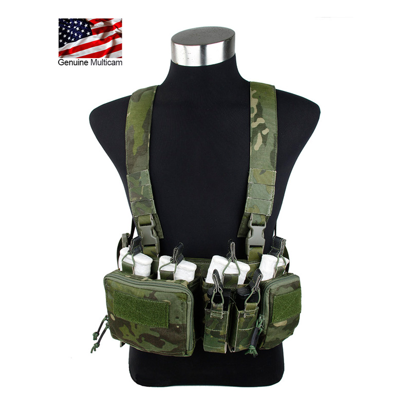 Multicam Tropic Chest Rig with Magazine Pouches Harness with mangazine Pouch MTP Chest rig Gunner Kit