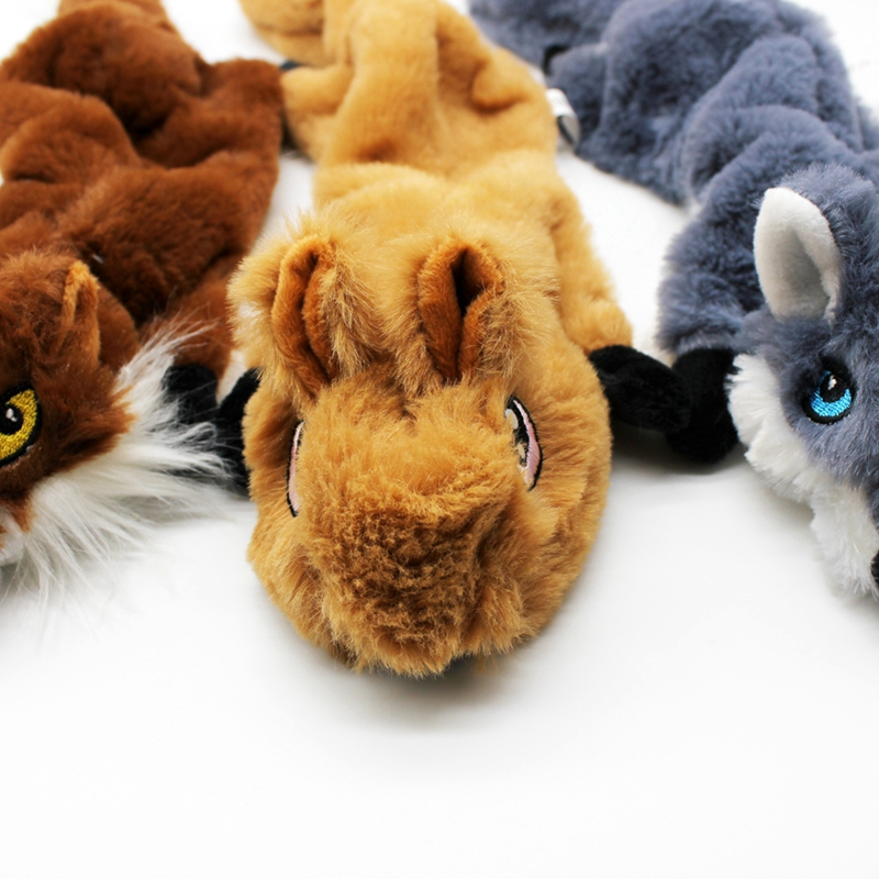 Cute Plush Toys Squeak For Dogs Chew Squeaker Pet Squeaky Animal Shaped Toy Squirrel  Dog Cat Toy Pet Supplies 13