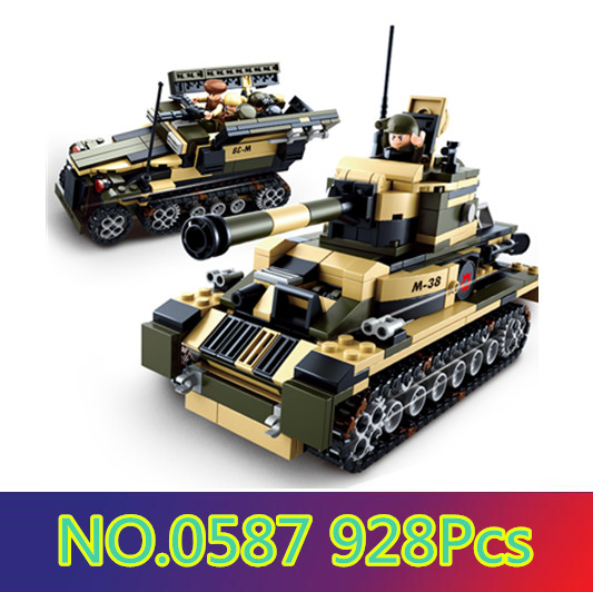 Sluban model building kits compatible with lego city tank 8 in1 3D blocks Educational model & building toys hobbies for children ...