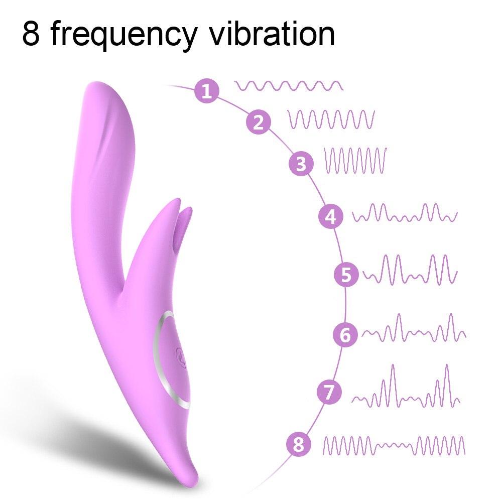 LIBO Dual Vibration Nipple Vagina Clitoris Stimulator Heating Female G Spot Clit Massager Vibrators Adults Sex Toys for Woman in Vibrators from Beauty Health